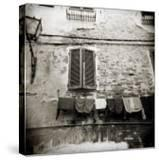 Laundry Hanging from Wall of Old Building  Siena  Tuscany  Italy