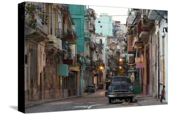 lee-frost-street-scene-before-sunrise-dilapidated-buildings-crowded-together-and-vintage-american-cars
