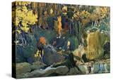 Décor for Debussy's Ballet L'Apres-Midi D'Un Faune (The Afternoon of a Fau)  1912