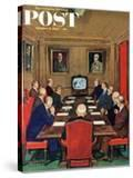 """Baseball in the Boardroom "" Saturday Evening Post Cover  October 8  1960"
