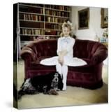 """Child Actress Hayley Mills in Old Fashioned Dress with Spaniel at Making of Film """"Pollyanna"""""""