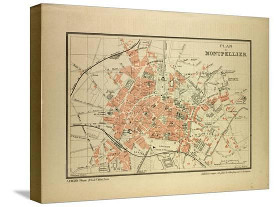 map-of-montpellier-france