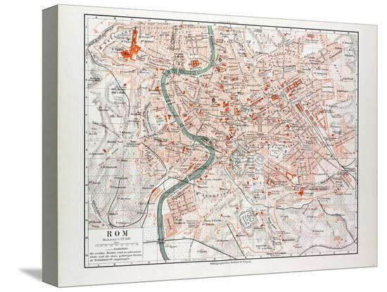 map-of-rome-italy-1899