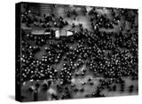 Overhead View of Men Relaxing on 36th Street  Between Eighth and Ninth Aves