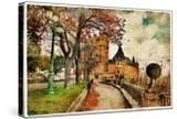 Fairy Alcazar Castle  Segovia   Spain  Picture In Painting Style