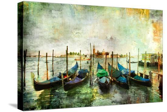 maugli-l-gondolas-beautiful-venetian-pictures-oil-painting-style