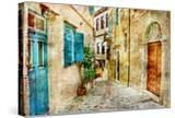 Pictorial Old Streets Of Greece - Picture In Painting Style