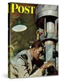 """Up Periscope! "" Saturday Evening Post Cover  April 22  1944"