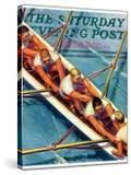 """Scullers "" Saturday Evening Post Cover  June 25  1938"