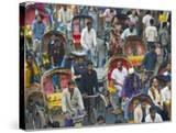 Busy Rickshaw Traffic on a Street Crossing in Dhaka  Bangladesh  Asia