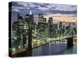 Brookyn bridge and Downtown skyline  NYC