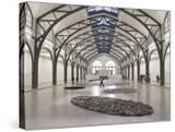 Berlin Circle by Richard Long with Ellipse of Stones  Hamburger Bahnhof Museum  Berlin  Germany