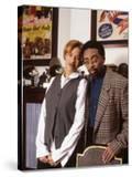 Filmmaker Spike Lee at Home with Wife Tonya Lewis Lee  1994