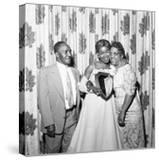 Sarah Vaughan celebrating Sarah Vaughan Day with her parents - 1957