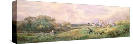 myles-birket-foster-children-running-down-a-hill
