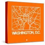 Orange Map of Washington  DC