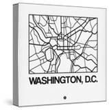 White Map of Washington  DC