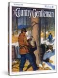 """""""Gathering Maple Syrup """" Country Gentleman Cover  March 1  1927"""