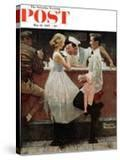 """After the Prom"" Saturday Evening Post Cover  May 25 1957"