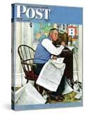 """""""Armchair General"""" Saturday Evening Post Cover  April 29 1944"""