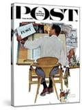 """""""Artist at Work"""" Saturday Evening Post Cover  September 16 1961"""