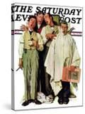 """Barbershop Quartet"" Saturday Evening Post Cover  September 26 1936"