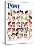 """Chain of Gossip"" Saturday Evening Post Cover  March 6 1948"