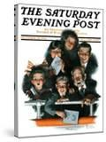 """""""Charlie Chaplin Fans"""" Saturday Evening Post Cover  October 14 1916"""