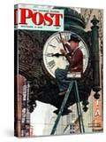 """Clock Repairman"" Saturday Evening Post Cover  November 3 1945"