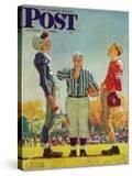 """Coin Toss"" Saturday Evening Post Cover  October 21 1950"