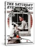"""Dog Outside"" or ""Patient Friend"" Saturday Evening Post Cover  June 10 1922"