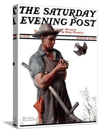 norman-rockwell-farmer-and-the-bird-or-harvest-time-saturday-evening-post-cover-august-18-1923