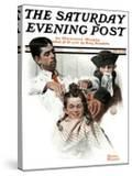 """""""First Haircut"""" Saturday Evening Post Cover  August 10 1918"""