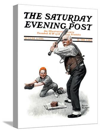 norman-rockwell-gramps-at-the-plate-saturday-evening-post-cover-august-5-1916
