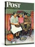 """Home for Thanksgiving"" Saturday Evening Post Cover  November 24 1945"