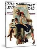 """""""Home from Vacation"""" Saturday Evening Post Cover  September 13 1930"""