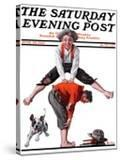 """Leapfrog"" Saturday Evening Post Cover  June 28 1919"