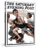 """No Swimming"" Saturday Evening Post Cover  June 4 1921"