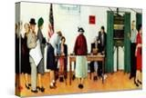 """""""Norman Rockwell Paints America at the Polls""""  November 4 1944"""