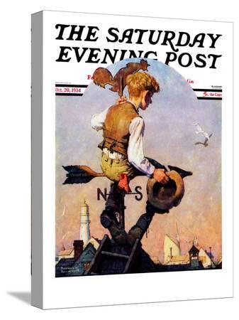 norman-rockwell-on-top-of-the-world-saturday-evening-post-cover-october-20-1934