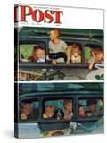 """""""Outing"""" or """"Coming and Going"""" Saturday Evening Post Cover  August 30 1947"""