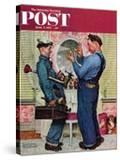 """Plumbers"" Saturday Evening Post Cover  June 2 1951"