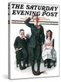 """Recitation"" Saturday Evening Post Cover  June 14 1919"