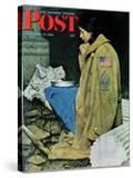 """""""Refugee Thanksgiving"""" Saturday Evening Post Cover  November 27 1943"""