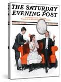 """""""Shall We Dance"""" Saturday Evening Post Cover  January 13 1917"""