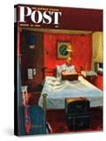"""Solitaire"" Saturday Evening Post Cover  August 19 1950"