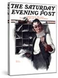 """""""Sorting the Mail"""" Saturday Evening Post Cover  February 18 1922"""
