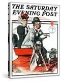 """""""Speeding Along"""" Saturday Evening Post Cover  July 19 1924"""