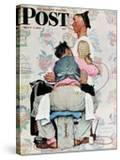 """""""Tattoo Artist"""" Saturday Evening Post Cover  March 4 1944"""