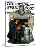 """""""Tea for Two"""" or """"Tea Time"""" Saturday Evening Post Cover  October 22 1927"""